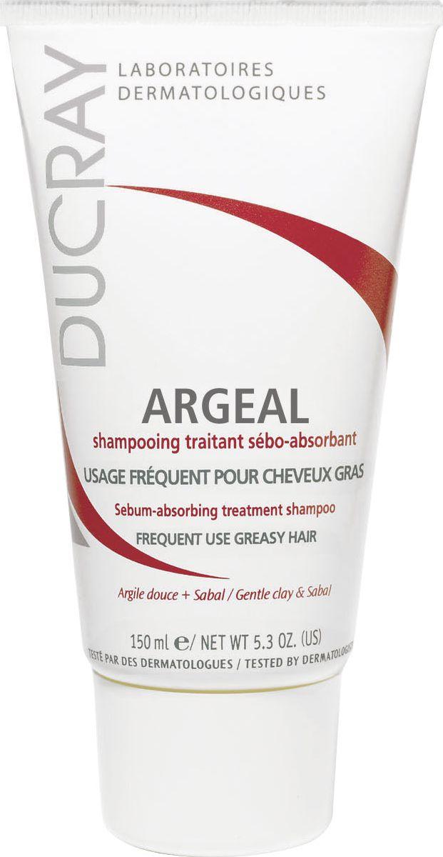 Ducray Себоабсорбирующий шампунь Argeal для жирных волос 150млC02723Себоабсорбирующий шампунь Argeal (Аржеаль) создан специально для ежедневного ухода за кожей головы с избыточным салоотделением. Делает волосы здоровыми, возвращает объем и предотвращает жирный блеск. Основные компоненты: Каолин (мягкая глина) в высокой концентрации мягко абсорбирует излишки себума и предотвращает его перемещение на волосяной стержень. Экстракт пальмы Сабаль позволяет шампуню локально регулировать выработку себума сальными железами. Благодаря кремообразной текстуре шампуня, его легко использовать, массируя кожу головы мягкими движениями, тем самым активируя синергичное действие двух активных ингредиентов.