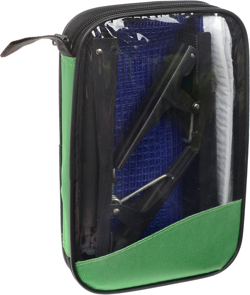 Сетка для настольного тенниса Start Up, с креплениями, цвет: синий, белый, черный, длина 185 смW203S_синийСетка для настольного тенниса Start Up выполнена из прочного нейлона. Вкомплекте два металлических крепления. Натяжение сетки можнорегулировать.Ширина сетки: 14 см.