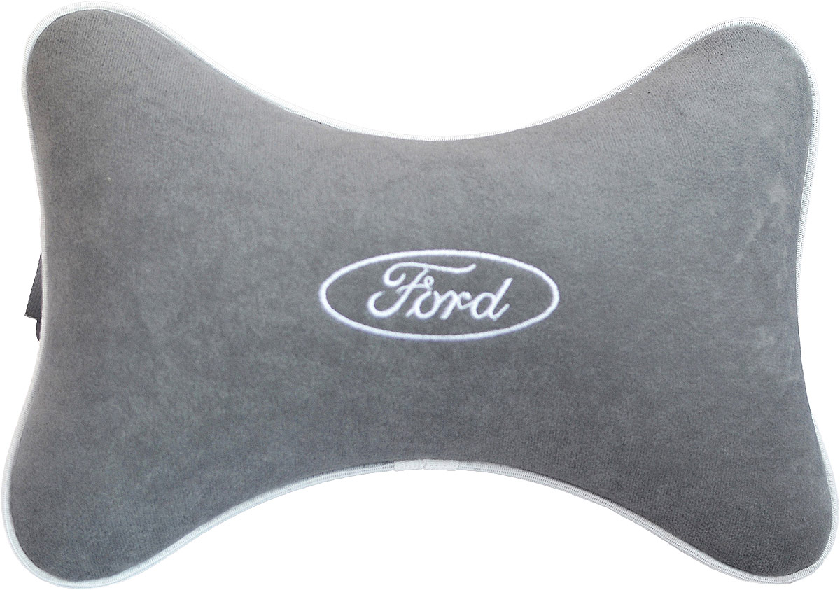 термосумка auto premium ford 20 л Подушка на подголовник Auto Premium Ford , цвет: серый. 37444