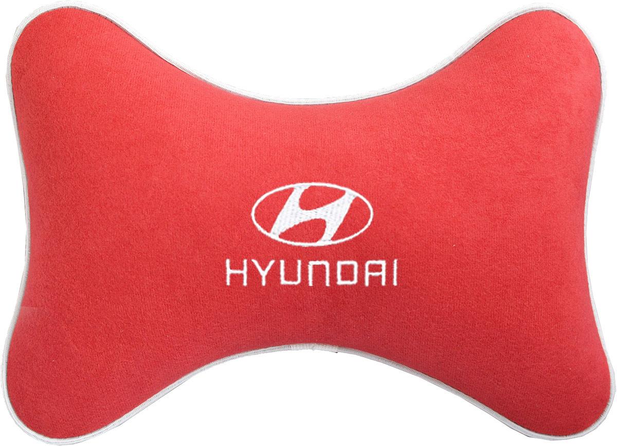 """Подушка на подголовник Auto Premium """"Hyundai"""", цвет: красный. 37467"""