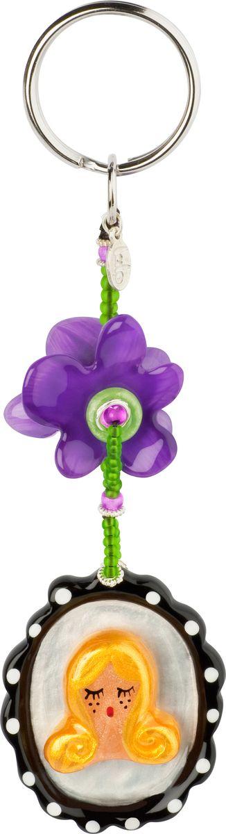 Брелок Lalo Treasures изготовлен из ювелирной смолы ярких цветов. Он оформлен подвесными элементами и крепится к кольцу с помощью крепкого  шнурка.  Оригинальный брелок подчеркнет вашу индивидуальность, а также станет отличным подарком для любительниц модных новинок в мире  аксессуаров.