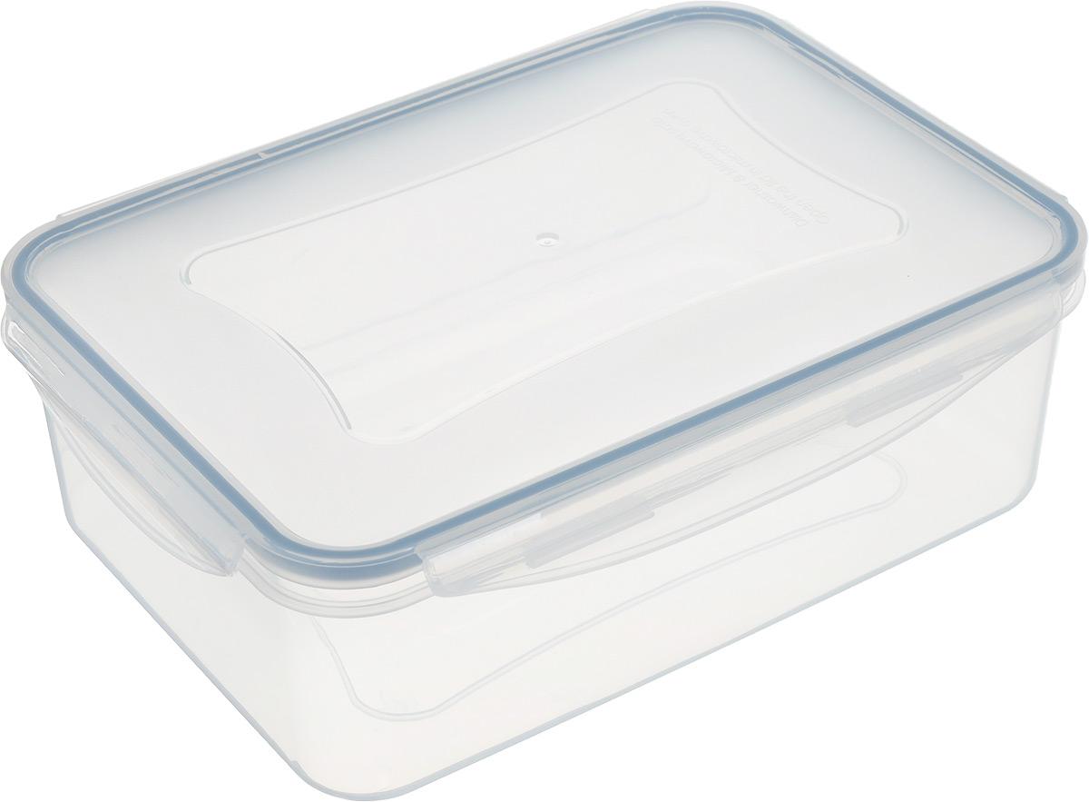 """Контейнер Tescoma """"Freshbox"""", изготовленный из прочного пластика, отлично подходит для хранения и разогрева блюд.  Герметичная крышка имеет силиконовый уплотнитель, пища остается свежей дольше и не протекает при перевозке.  Подходит для холодильника, морозильных камер, микроволновой печи и посудомоечной машины.   Размер (с учетом крышки): 24,5 х 18 х 8 см."""