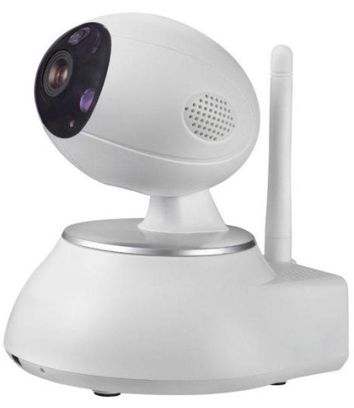 Sapsan IP-Cam iEVE Wi-Fi камера9000Wi-Fi камера Sapsan IP-Cam iEVE - бюджетная комнатная сетевая видеокамера с возможностью контроля и записи по срабатыванию подключенных к ней беспроводных датчиков. Подходит для онлайн контроля за помещениями, в том числе складов с температурой до -10°С.IP-Cam iEVE может поворачиваться по горизонтали до 355°, а по вертикали на 120°, так что камера может видеть все помещение, а управлять можно из любой точки мира.В камере есть встроенный микрофон и динамик, позволяющий вести не только запись звука, но и иметь обратную связь с помещением. Например расположив камеру в комнате ребенка вы не только будете слышать его , но и иметь возможность успокоить ребенка, или просто поговорить с ним.Wi-Fi камера с качеством 1280 на 720 пикселей, может вести запись при скорости 25 кадров в секунду. Запись видео на MicroSD размером до 128 Гб происходит циклично. Архива в качестве HD хватает на 10 суток в лучшем качестве, и на 30 суток в среднем качестве. Архив можно просматривать удаленно с компьютера или ноутбука, планшета или смартфона.К сетевой камере можно подключить до 64 беспроводных датчиков: движения, открытия окна и двери, пожарный, утечки газа, вибрации и др. При срабатывании датчика передается сигнал на камеру и автоматически включается запись, если она до этого не велась. Благодаря этому можно создать систему беспроводного охранного видеонаблюдения.Поддержка протоколов Onvif для простой интеграции камеры с любыми видеорегистраторами и сервисами видеонаблюдения.Встроенная подсветка до 10 метров дает возможности качественно вести ночную съемку. Как выбрать камеру видеонаблюдения для дома. Статья OZON Гид
