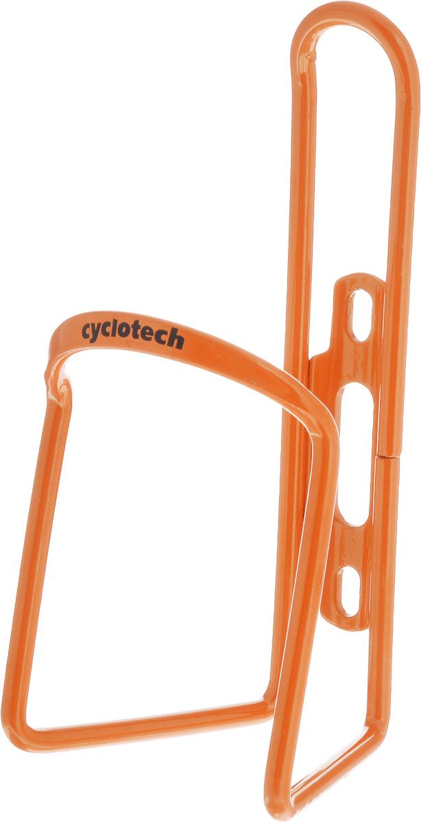 Флягодержатель Cyclotech, цвет: оранжевыйCBH-1ORФлягодержатель Cyclotech, выполненный из прочного алюминия, способен удерживать не только велофлягу, но и обычные пластиковые бутылки. Крепится изделие на раме при помощи шурупов (входят в комплект).Это незаменимая вещь для спортсменов и любителей длительных велосипедных прогулок. Благодаря держателю, фляга с водой будет у вас всегда под рукой.Гид по велоаксессуарам. Статья OZON Гид