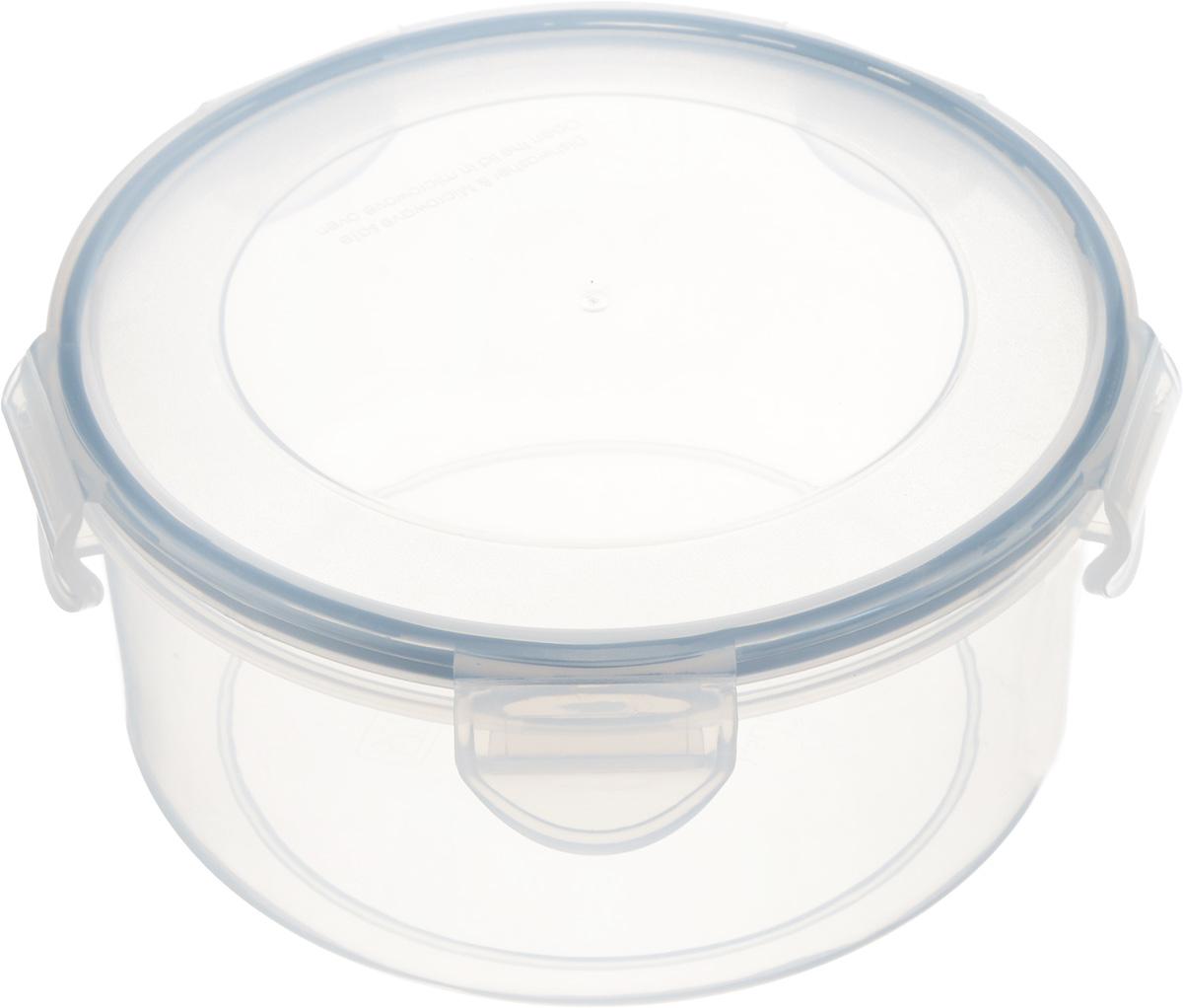 Контейнер Tescoma Freshbox, круглый, 1,5л892114Круглый контейнер Tescoma Freshbox изготовлен из высококачественного пластика. Изделие идеально подходит не только для хранения, но и для транспортировки пищи. Контейнер имеет крышку, которая плотно закрывается на 5 защелок и оснащена специальной силиконовой прослойкой. Изделие подходит для домашнего использования, для пикников, поездок, отдыха на природе, его можно взять с собой на работу или учебу. Можно использовать в СВЧ-печах, холодильниках и морозильных камерах. Можно мыть в посудомоечной машине.Диаметр контейнера (без учета крышки): 17 см. Высота контейнера (без учета крышки): 8 см.