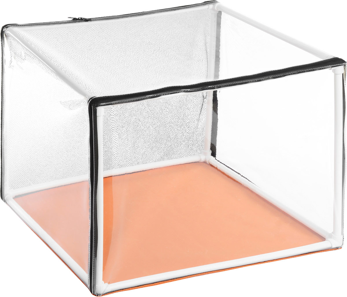 Клетка для животных Elite Valley Аквариум, выставочная, цвет: прозрачный, оранжевый, черный, 86 х 65 х 65 смК-13/3_черный, оранжевыйКлетка Elite Valley Аквариум предназначена для показа кошек и собак на выставках.Она выполнена из плотного текстиля, каркас - пластиковые трубки. Клетка выполнена из текстиля и ПВХ, оснащена сетчатой стенкой. Клетка быстро собирается и разбирается. В комплекте сумка-чехол для удобной транспортировки.