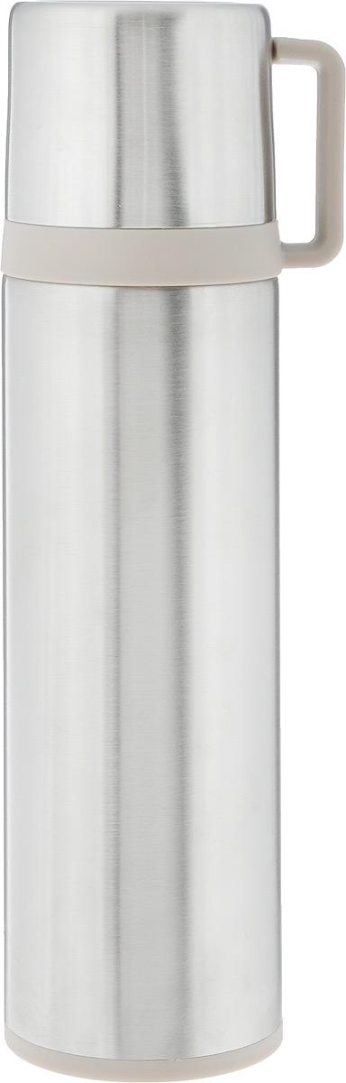 Термос Tescoma Constant, с крышкой-кружкой, цвет: серебристый, 0,5л. 318572318572Термос Tescoma Constant - это вакуумный термос с двойной колбой из высококачественной нержавеющей стали. Термос сохраняет напитки горячими и холодными на протяжении длительного времени. Оснащен крышкой и пробкой с кнопкой для удобного розлива без снижения температуры. Термос Tescoma Constant прекрасно подходит для дома, офиса и для путешествий. Сохранение температуры в термосе зависит от количества и температуры напитка, от частоты его открывания и от температуры воздуха.Диаметр термоса по верхнему краю: 4,5 см.Диаметр дна: 7 см.Высота термоса с учетом крышки: 25,7 см.