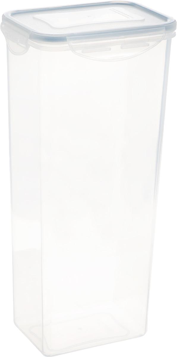 Контейнер Tescoma Freshbox, прямоугольный, 2 л892078Высокий контейнер Tescoma Freshbox изготовлен из высококачественного пластика. Изделие идеально подходит для хранения продуктов, так как оснащено герметичной крышкой с силиконовой прослойкой, которая предотвратит проникновение влаги и запахов. Крышка плотно закрывается на 4 защелки. Можно использовать в СВЧ-печах, холодильниках и морозильных камерах. Можно мыть в посудомоечной машине.Размер контейнера (без учета крышки): 12,5 х 9 см. Высота контейнера (без учета крышки): 27,5 см.