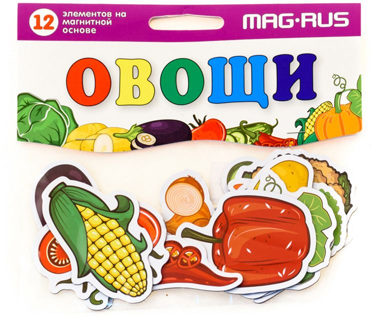 Mag-Rus Мозаика магнитная Овощи mag rus магнитная мозаика для развития интеллекта морские каникулы 54 эл та
