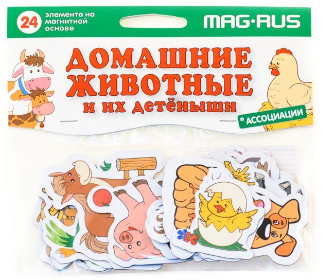 Mag-Rus Набор магнитов Домашние животные и их детеныши Ассоциации мельник в домашние животные и их детеныши page 1