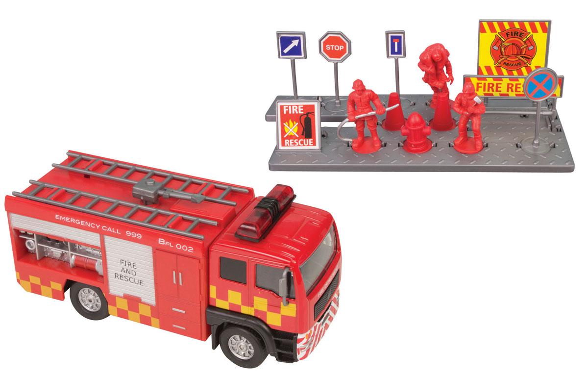 HTI Игровой набор Спасательная команда hti пожарная машина roadsterz