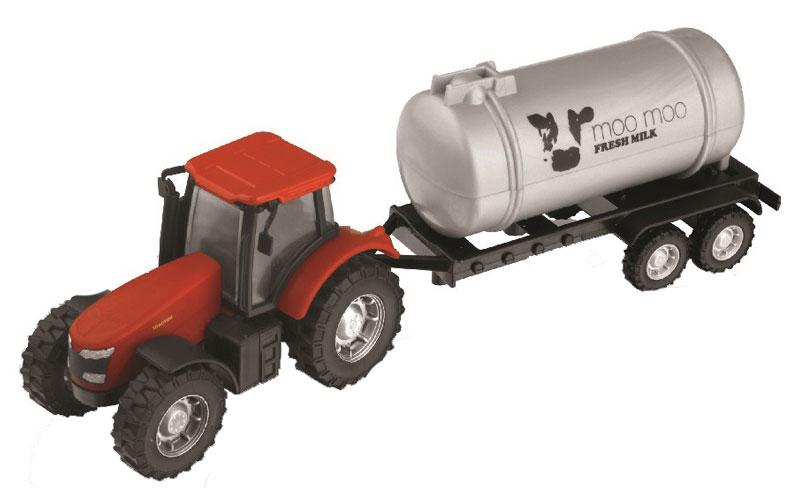 HTI Трактор с бочкой цвет красный hti локомотив roadsterz с вагоном цвет красный