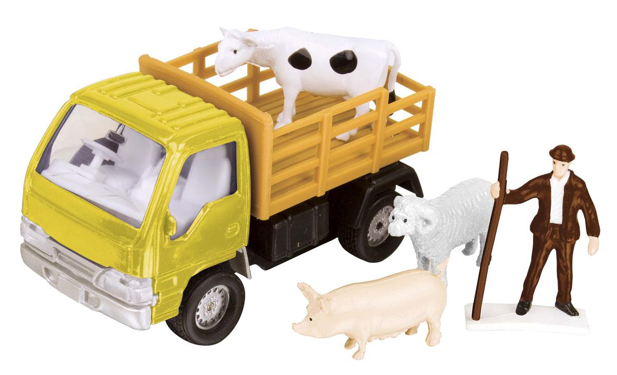 HTI Фермерский набор для перевозки животных цвет желтый hti вездеход roadsterz с прицепом