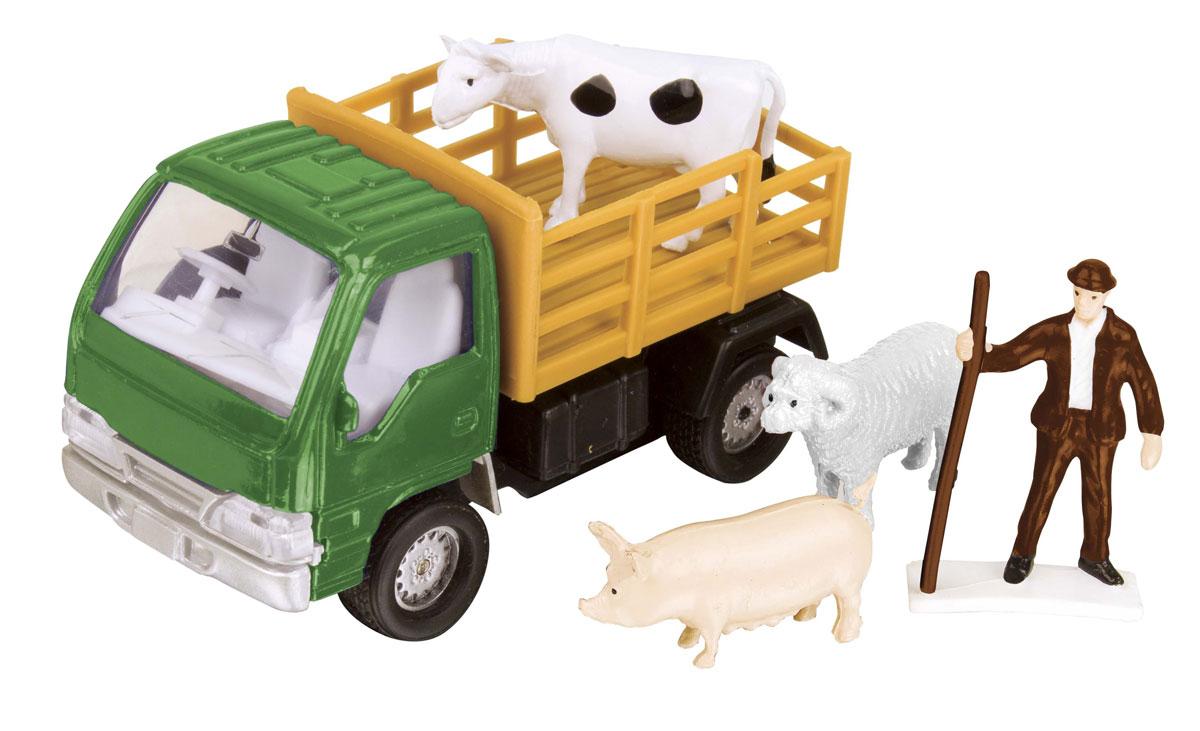 HTI Фермерский набор для перевозки животных цвет зеленый hti вездеход roadsterz с прицепом