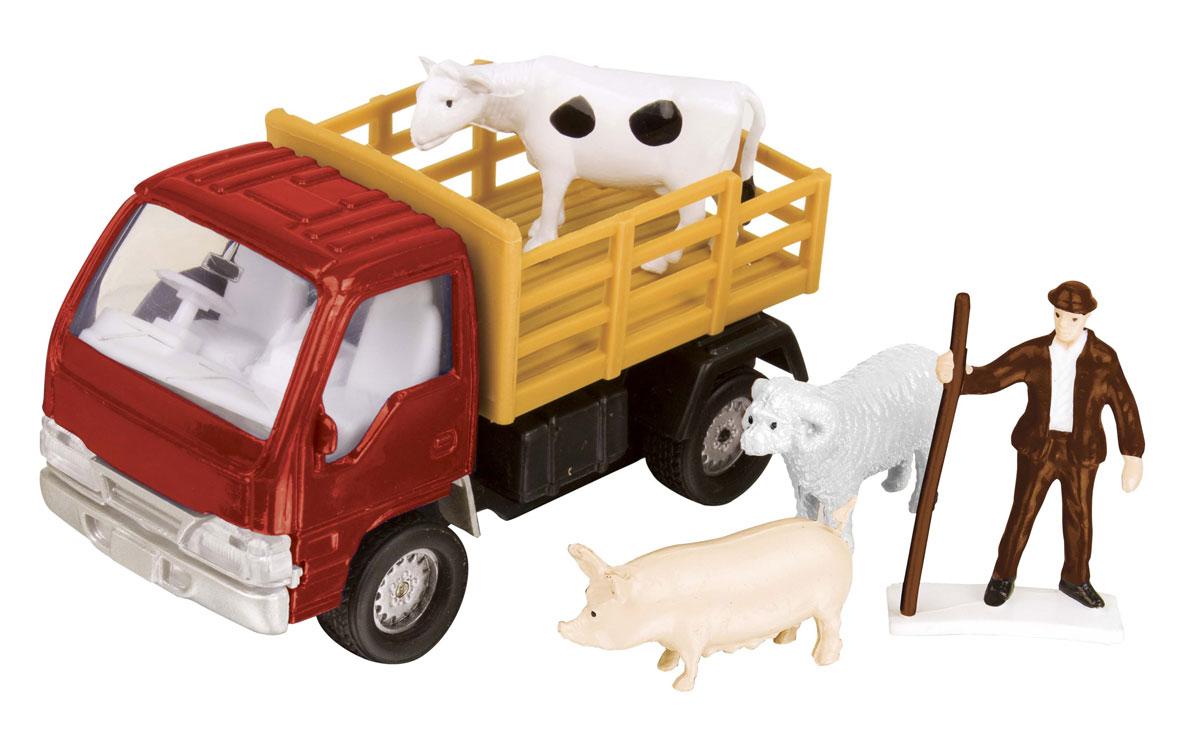 HTI Фермерский набор для перевозки животных цвет красный hti вездеход roadsterz с прицепом