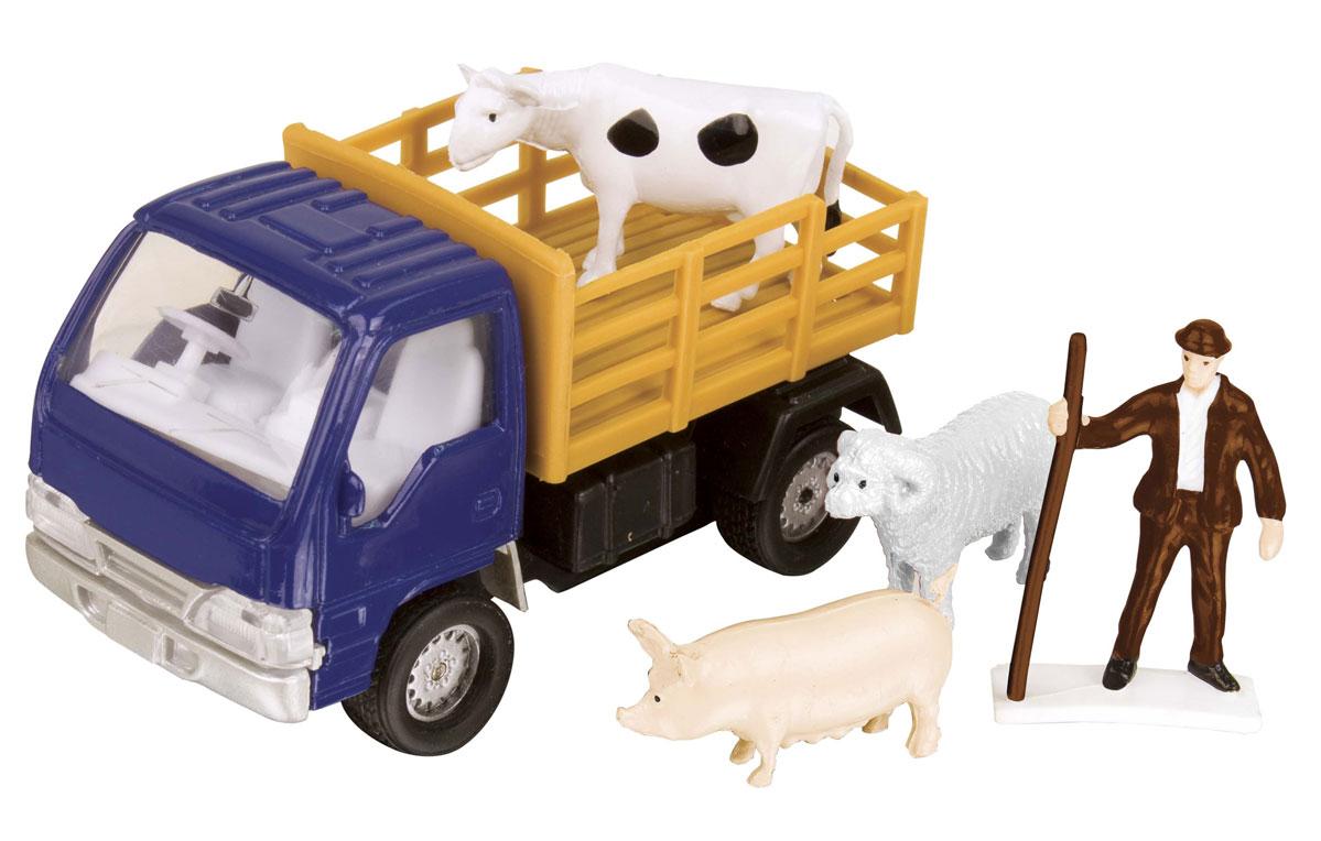 HTI Фермерский набор для перевозки животных цвет синий машинки hti паровозик roadsterz синий с вагоном звуковыми и световыми эффектами