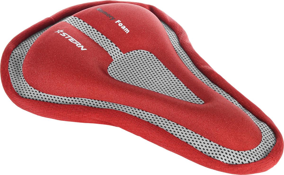 Чехол для седла велосипеда Stern, цвет: красный, серыйSAD-CAS-RЧехол для велосипедного седла Stern оснащен специальным гелевым наполнителем с технологией Memory Foam. Изделие используется для смягчения жестких седел и длительных поездок на велосипеде. Оснащен удобным крепежом-затяжкой для быстрого снятия/установки на седле. Чехол подойдет для седел размером 265-285 x 165-190 мм.