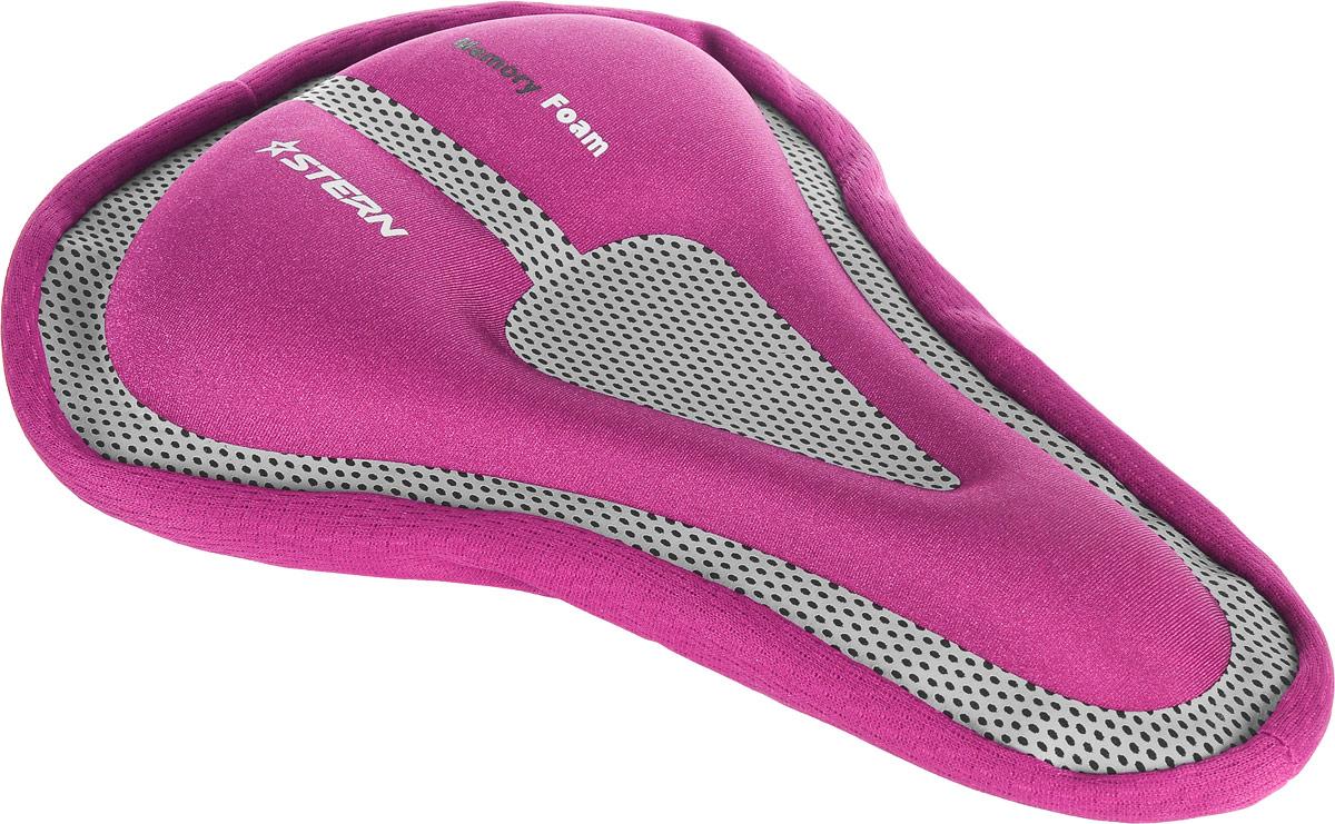 Чехол для седла велосипеда Stern, цвет: розовый, серыйSAD-CAS-PЧехол для велосипедного седла Stern оснащен специальным гелевым наполнителем с технологией Memory Foam. Изделие используется для смягчения жестких седел и длительных поездок на велосипеде. Оснащен удобным крепежом-затяжкой для быстрого снятия/установки на седле. Чехол подойдет для седел размером 265-285 x 165-190 мм.