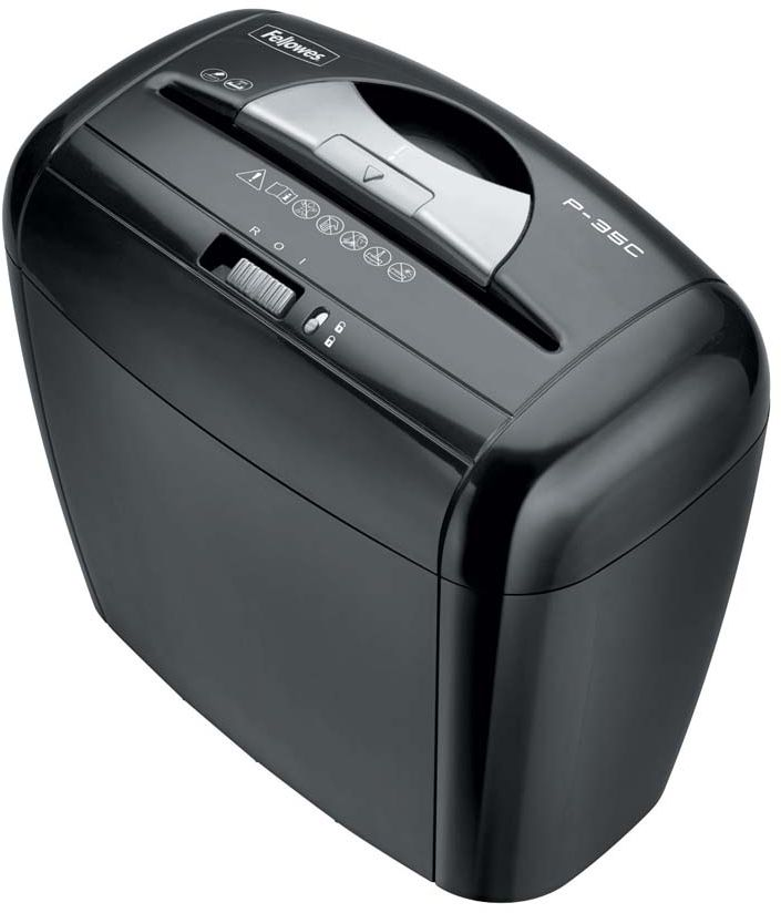 Fellowes Powershred P-35C, Black шредер fellowes powershred shredmate black шредер