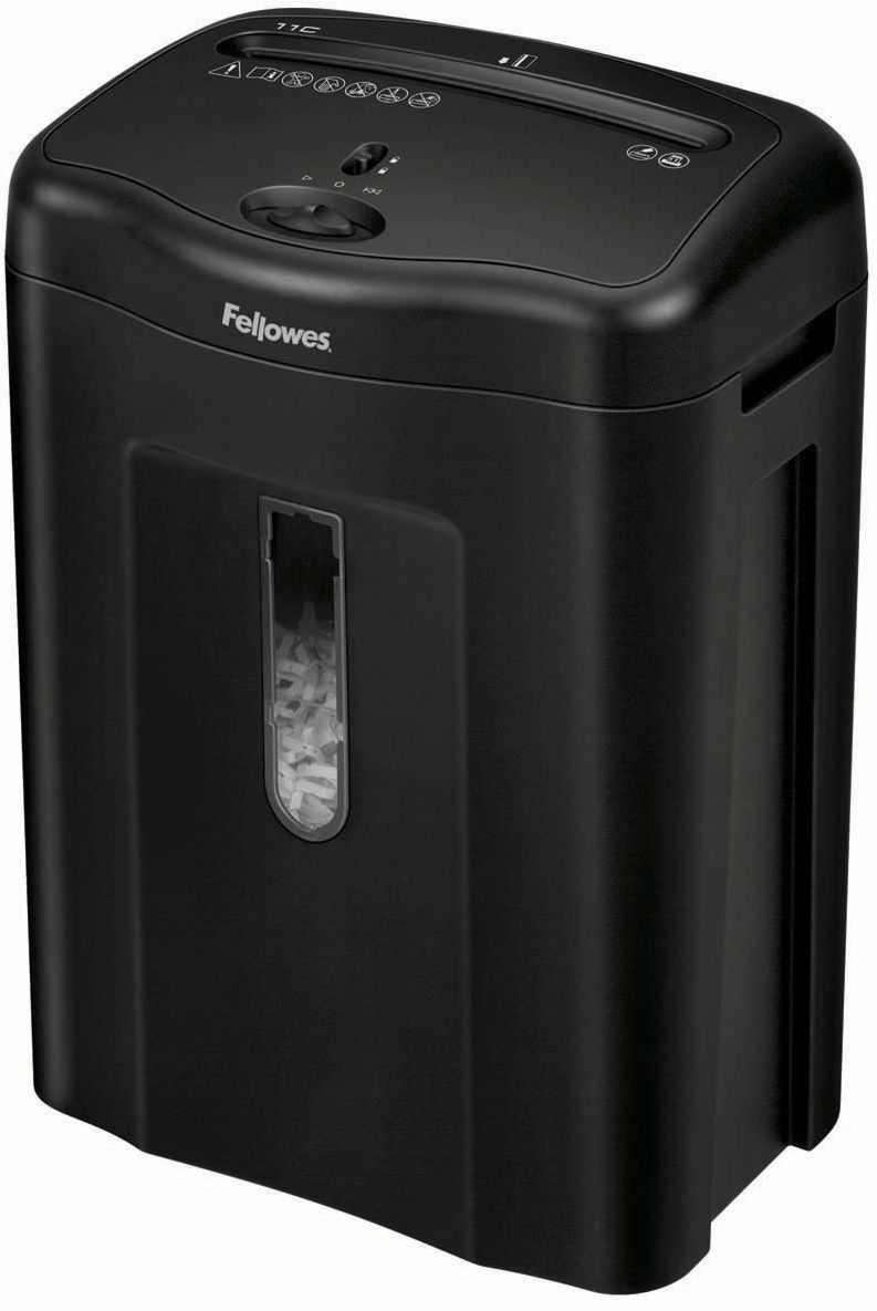 Fellowes Powershred 11C, Black шредер fellowes powershred shredmate black шредер