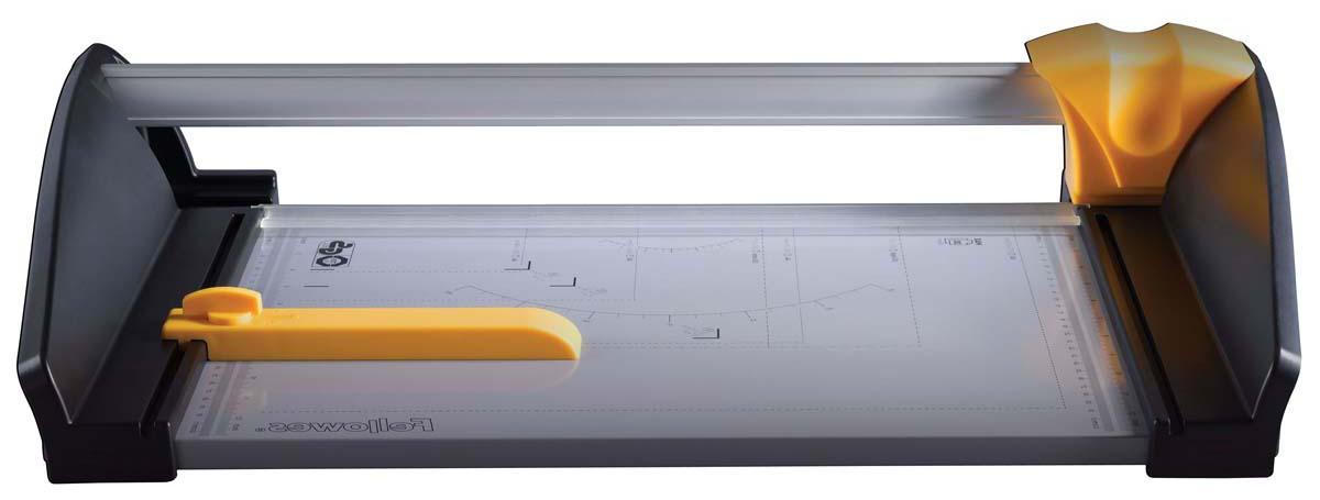 Fellowes Atom A3 резак дисковыйFS-54107Резак дисковый SafeCut™ Atom A3 идеален для интенсивного применения в офисе. Длина реза 455мм, стопа 3мм (30 листов 80г/м2). Надежное стальное SafeCut™ Лезвие с увеличенным жизненным циклом (более 10000 циклов реза). Лезвие с легкостью режет пластиковые карты и плотный картон. Прочное металлическое основание с ножками. Фиксируемый крепеж края бумаги для работы с большими тиражами. Специальный механизм фиксирует режущий картридж на конечной позиции, что облегчает процесс транспортировки. .