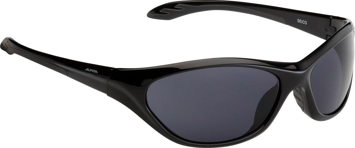 Очки солнцезащитные Alpina Seico, цвет: черный, серый. 84444318444431Детские солнцезащитные очки Alpina Seico предназначены как для езды на велосипеде, так и для многих других видов спорта.Прорезиненная гибкая перегородка для носа обеспечивает надежную фиксацию, а высококачественные линзы с ударопрочным керамическим покрытием защищают от ультрафиолетового излучения. Степень защиты: S3.