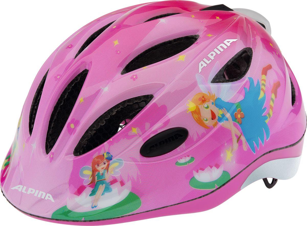 Шлем летний Alpina Gamma 2.0 Flash little princess, цвет: розовый. Размер 46-51