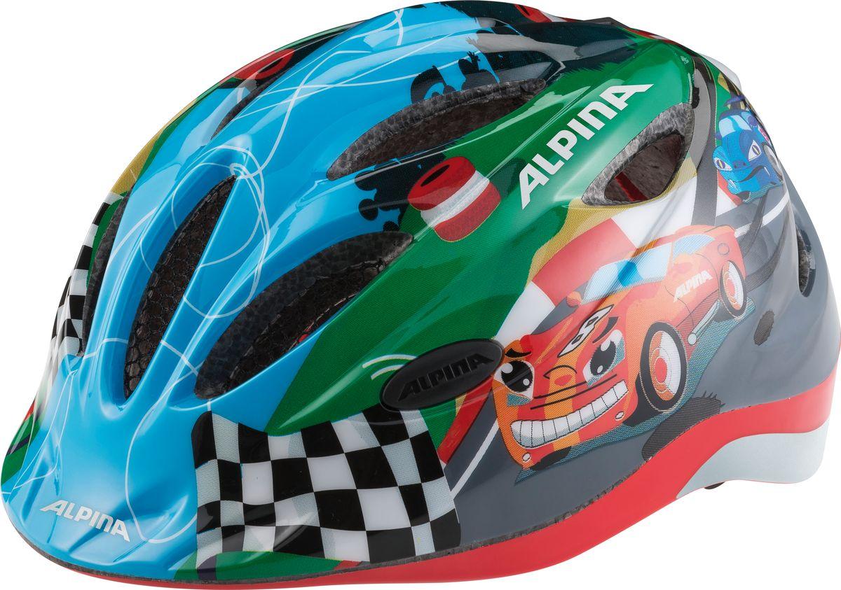 Шлем летний Alpina Gamma 2.0 Flash racing, цвет: голубой. Размер 46-51