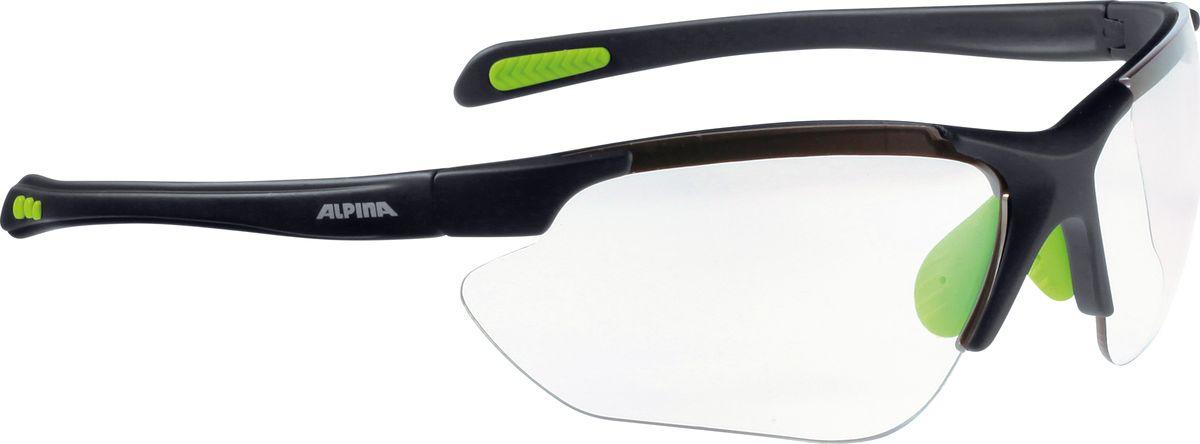 Очки солнцезащитные Alpina Jalix, цвет: зеленый, черный, прозрачный. 85603358560335Солнцезащитные очки Alpina Jalix предназначены как для езды на велосипеде, так и для многих других видов спорта.Прорезиненная гибкая перегородка для носа и силиконовые наконечники на душках обеспечивают надежную фиксацию, а высококачественные керамические линзы обеспечивают защиту от ультрафиолетового излучения. Степень защиты: S3.