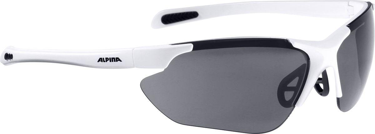 Очки солнцезащитные Alpina Jalix, цвет: белый, черный. 85604108560410Солнцезащитные очки Alpina Jalix предназначены как для езды на велосипеде, так и для многих других видов спорта.Прорезиненная гибкая перегородка для носа и силиконовые наконечники на душках обеспечивают надежную фиксацию, а высококачественные керамические линзы обеспечивают защиту от ультрафиолетового излучения. Степень защиты: S3.