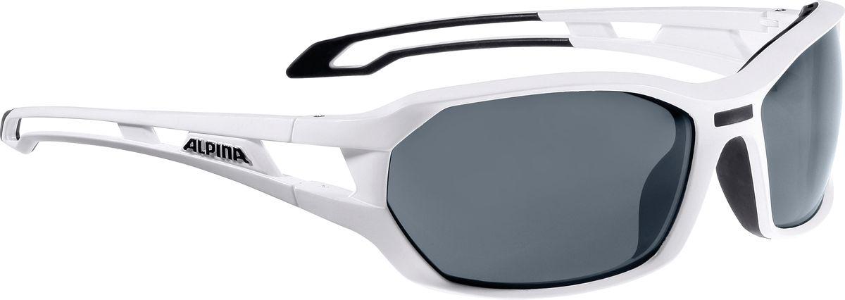Очки солнцезащитные Alpina Berryn P, цвет: белый, черный. 85675108567510Солнцезащитные очкиAlpina Berryn P предназначены как для езды на велосипеде, так и для многих других видов спорта. Поляризованные линзы обеспечивают хорошую защиту от яркого солнца, в отличие от обычных солнцезащитных очков. Прорезиненные дужки и инновационная форма оправы делает очки спортивными, стильными и универсальными.