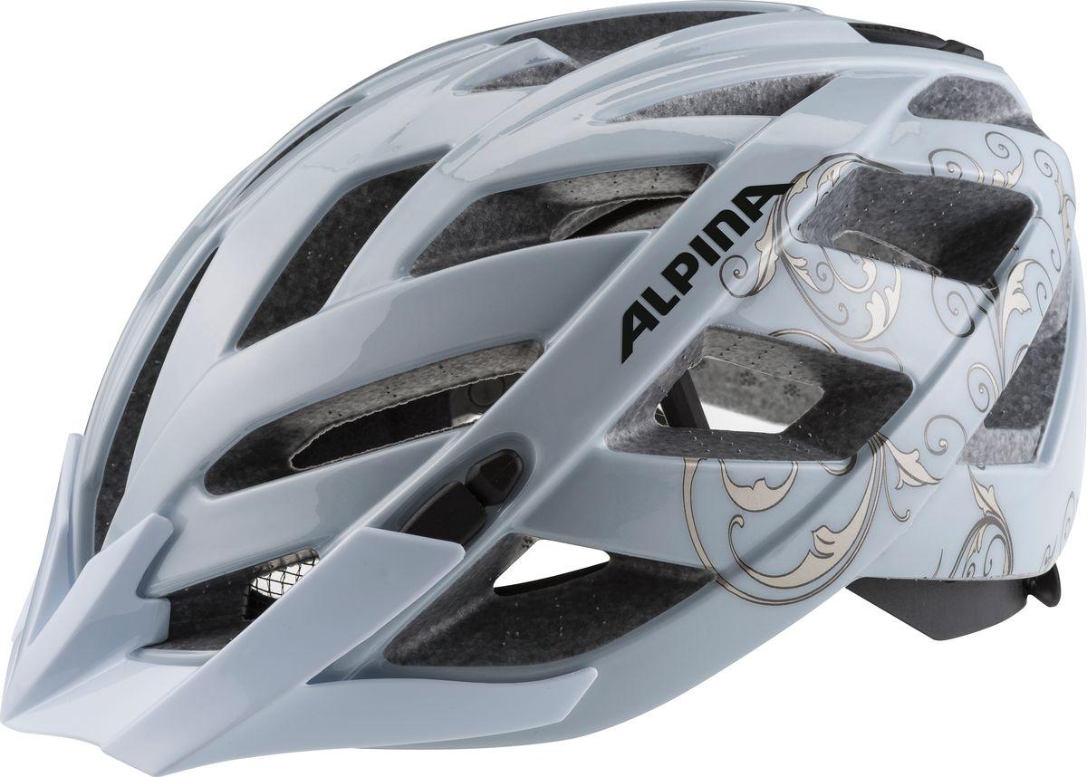 Шлем летний Alpina Panoma Classic, цвет: серебристый. Размер 52-57A9703120Классический универсальный велосипедный шлем с превосходной посадкой. Panoma - верный компаньон в ежедневных поездках до работы и выездов по выходным. 23 вентиляционных отверстия.Шлем летний Alpina Panoma Classic- это классический универсальный велосипедный шлем с превосходной посадкой. Panoma - верный компаньон в ежедневных поездках до работы и выездов по выходным. 23 вентиляционных отверстия.Безопасность:Оболочка Inmold Производственный процесс заключается в нагревании до высокой температуры внешней поликарбонатной оболочки и запекании ее на EPS-тело шлема под высоким давлением. Этот процесс создает неразрывную связь по всей поверхности между внутренней и внешней оболочками, благодаря этому шлем получается не только очень легким, но и чрезвычайно стабильным.Hi-EPS Внутренняя оболочка выполнена из Hi-EPS (вспениный полистирол). Этот материал состоит из множества микроскопических воздушных камер, которые эффективно поглощают силу удара. Hi-EPS обеспечивает оптимальную защиту в сочетании с экстратонкими стенками.Ceramic Материал объединяет несколько преимуществ: устойчив к ударам и царапинам, содержит ультрафиолетовые стабилизаторы и антистатичен.Эргономика: Run System Classic Если вы используете свой велосипед для того, чтобы съездить по магазинам, вам не нужна сложная система регулировки. Система подгонки Run System Classic отвечает этим требованиям красивым, простым и надежным колесом регулировки. Система Run System Classic проста в использовании и держит шлем надежно, там где он должен быть - на голове.Y-Clip Шлем может обеспечить правильную защиту, только если он остается на месте в случае удара. Крепление, которое соединяет две полоски под ухом имеет решающее значение в этом случае. Система Y-Clip Alpina гарантирует идеальную подгонку до последнего миллиметра за считанные секунды.Ergomatic Проверенная бесчисленное количество раз, эта пряжка используется во всех шлемах Alpina. Из особеннос