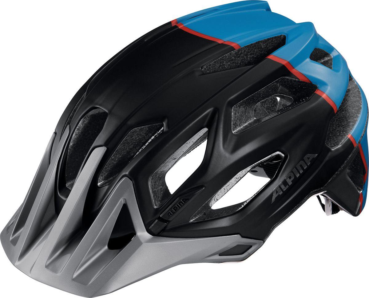 Шлем летний Alpina Garbanzo, цвет: синий, черный. Размер 53-57