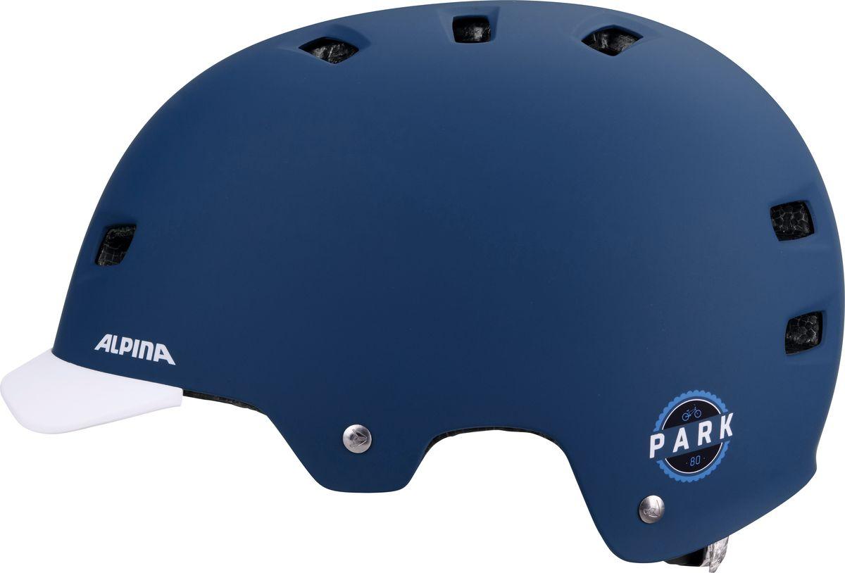 """Отличный шлем """"Alpina Park"""" для паркового катания.  Жесткая пластиковая скорлупа устойчива к многократным ударам, свежая графика и съемный козырек.  Технологии: Сeramic shell, Run System Classic.      Гид по велоаксессуарам. Статья OZON Гид"""