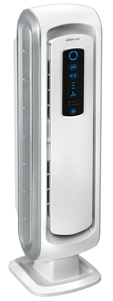 Fellowes Aeramax DB5 воздухоочистительFS-94017Воздухоочиститель для семей с маленькими детьми DB5Специальная цена в интернет магазине:Воздухоочиститель Fellowes AeraMax DB5 (fs-94017) предназначен для эффективной очистки воздуха в помещении площадью до 8м2.Воздух проходит 4 степени очистки, что позволяет значительно улучшить качество воздуха внутри помещений, удалив 99.97% загрязняющих частиц.Угольный фильтр удаляет запахи, химические загрязнения и крупные частицы, переносимые по воздуху.True HEPA фильтр задерживает 99.97% частиц размером от 0.3 микрон, включая споры плесени, пыльцу растений, пылевых клещей, большинство бактерий, аллергенов и сигаретный дым.Антибактериальная обработка AeraSafe™– встроенная защита от роста бактерий, вызывающих неприятный запах, плесени и грибков на фильтре True HEPA.Технология PlasmaTRUE™ безопасно удаляет содержащиеся в воздухе загрязняющие вещества, мгновенно нейтрализуя вирусы и микробы.Воздухоочиститель прост в работе и обладает удобным пользовательским интерфейсом. В режиме работы АВТО, датчики оценивают изменения качества воздуха в помещении, на основании чего устанавливается соответствующий режим очистки.Отличительной особенностью данной модели является возможность блокировки настроек и ночной режим работы, позволяющий снизить яркость светодиодов на 70%.