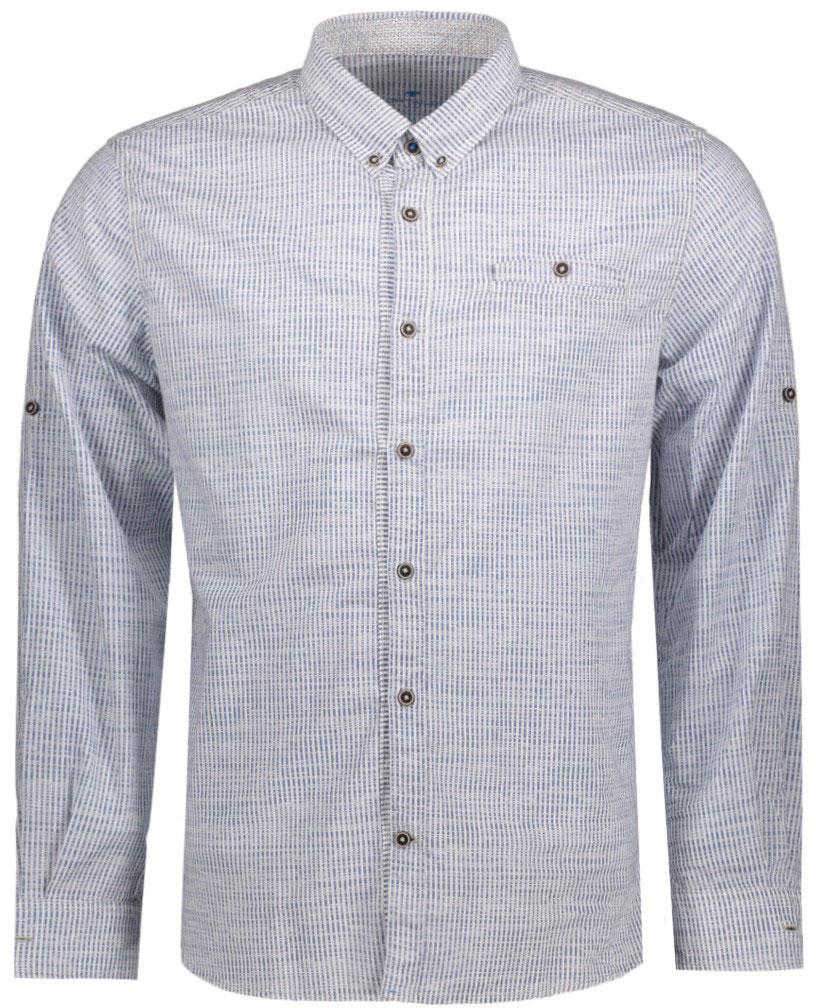 Рубашка мужская Tom Tailor, цвет: черный, белый. 2033228.62.10_6740. Размер L (50)2033228.62.10_6740Мужская рубашка Tom Tailor поможет создать отличный современный образ. Модель изготовлена из хлопка. Рубашка с отложным воротником и длинными рукавами застегивается по всей длине на пуговицы. На груди предусмотрен прорезной карман на пуговице. Манжеты рукавов оснащены застежками-пуговицами.Оформлено изделие принтом в мелкую клетку.Такая рубашка станет стильным дополнением к вашему гардеробу, она подарит вам комфорт в течение всего дня!