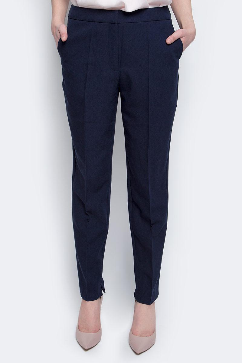 Брюки женские Baon, цвет: темно-синий. B297001_Dark Navy. Размер L (48) комбинезон женский baon цвет темно синий b498023 dark navy размер l 48