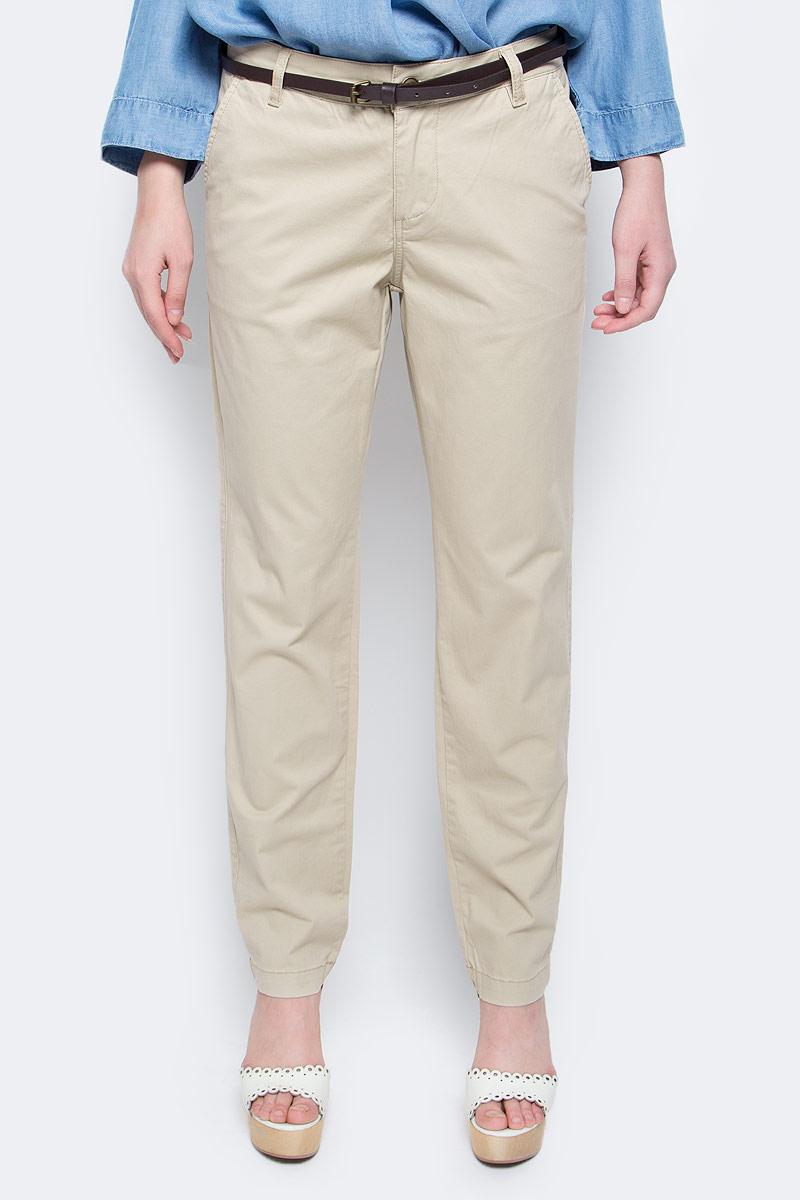 Брюки женские Baon, цвет: бежевый. B297045_Muscovite. Размер XL (50) женские брюки лэйт светлый размер 50