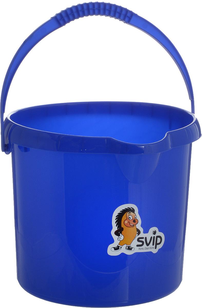 Ведро Svip, цвет: синий, 4 л