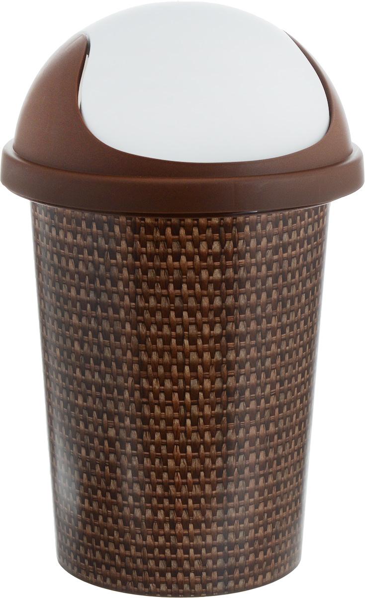 Корзина для мусора Plastic Centre Рогожка, 10 лПЦ2539РГЖКухня, ванная комната или офис – везде может быть использована корзина для мусора Plastic Centre Рогожка. Практичная корзина для мусора изготовлена из высококачественного пластика. Крышка-качалка удобна в использовании. Корзина постоянно находится в закрытом состоянии, скрывая от взгляда свое содержимое и предотвращая распространение неприятных запахов. Крышку легко снимать и мыть отдельно от корзины.