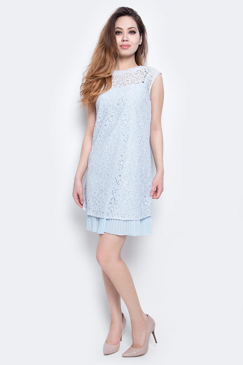 Платье Baon, цвет: светло-голубой. B457075_Blizzard. Размер L (48) платье baon цвет бледно голубой b457056