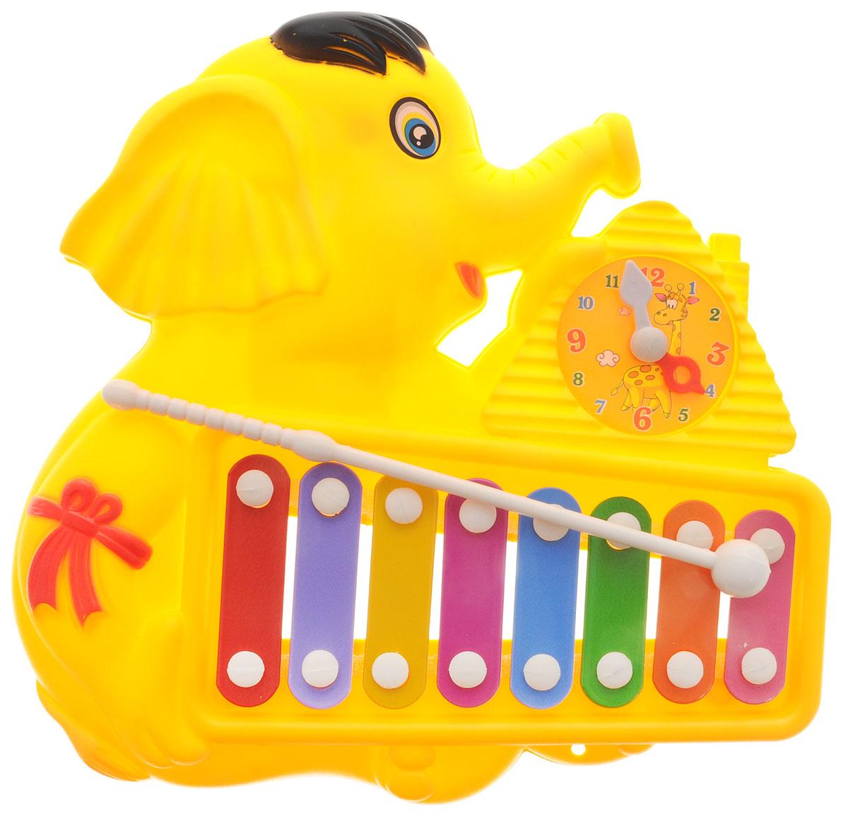 Veld-Co Металлофон Слоник цвет желтый veld co игровой набор с куклой детский доктор