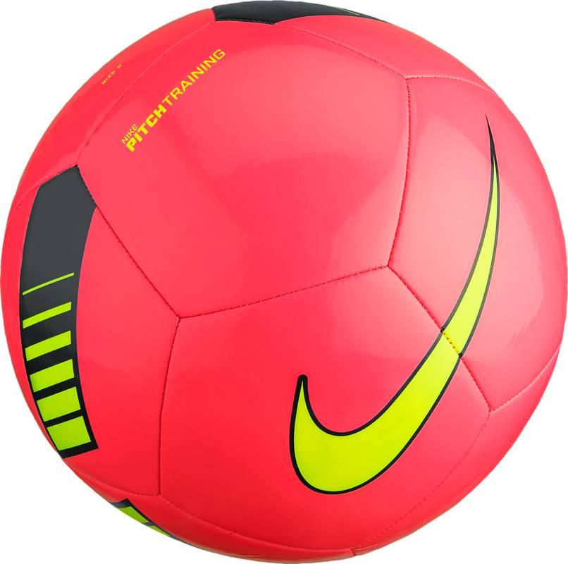Мяч футбольный Nike Pitch Training Football, цвет: розовый, черный, желтый. Размер 5SC3101-639Мяч Nike Pitch Training из искусственной кожи. Машинная сшивка. Бутиловая камера. Мяч оптимально подходит для игры в футбол на любительском уровне.