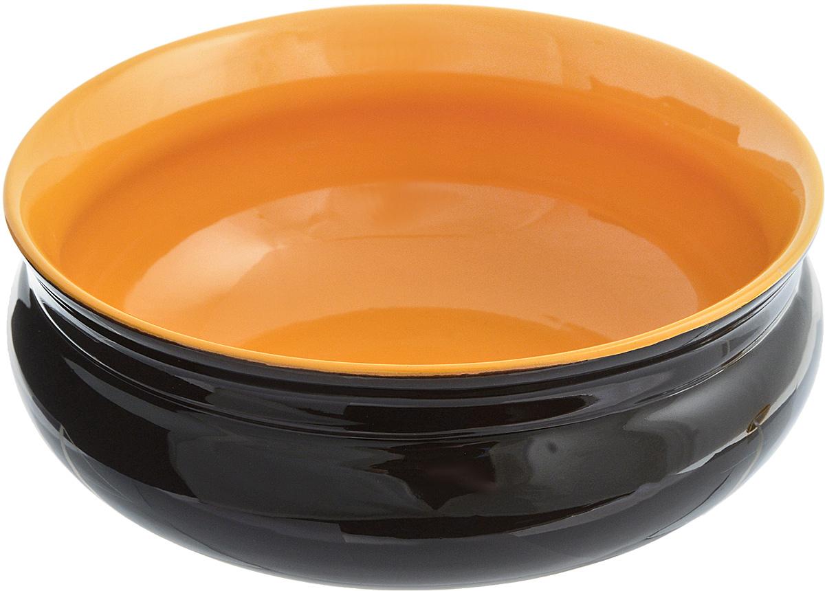 Тарелка глубокая Борисовская керамика Скифская, цвет: черный, светло-коричневый, 800 млРАД14457937_черный, светло-коричневыйГлубокая тарелка Борисовская керамика Скифская выполнена из высококачественной керамики.Изделие сочетает в себе изысканный дизайн с максимальной функциональностью. Она прекрасно впишется в интерьер вашей кухни и станет достойным дополнением к кухонному инвентарю. Тарелка Борисовская керамика Скифская подчеркнет прекрасный вкус хозяйки и станет отличным подарком. Можно использовать в духовке и микроволновой печи.Диаметр тарелки (по верхнему краю): 16 см.Высота стенки: 6,5 см.Объем: 800 мл.