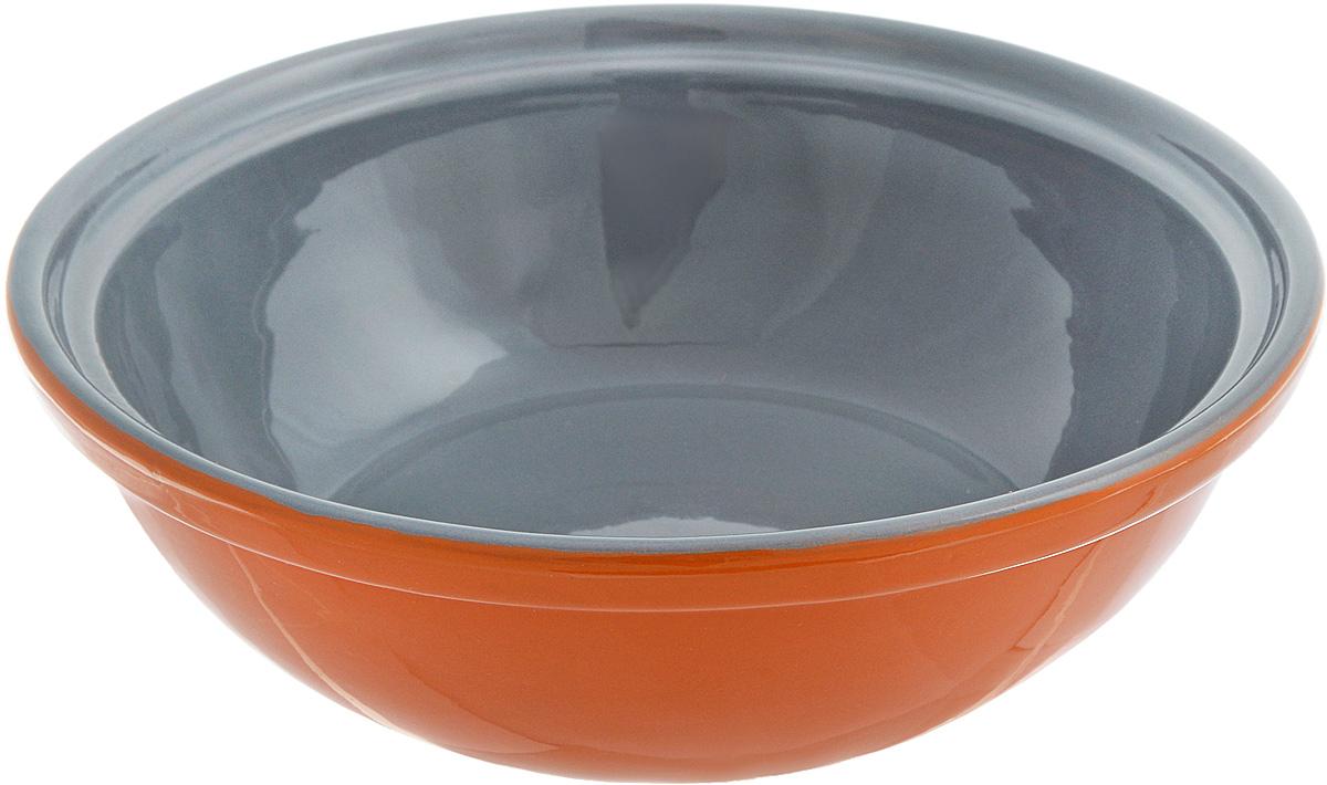 Салатник Борисовская керамика Модерн, цвет: оранжевый, серый, 500 млРАД14456945_оранжевый, серыйСалатник Борисовская керамика Модерн выполнен из высококачественной керамики. Он придется по вкусу каждому и порадует вас и ваших близких. Салатник Борисовская керамика Модерн идеально подойдет для сервировкистола и станет отличным подарком к любому празднику.Можно использовать в духовке и микроволновой печи. Диаметр (по верхнему краю): 17,5 см.Высота: 5,5 см.Объем: 500 мл.
