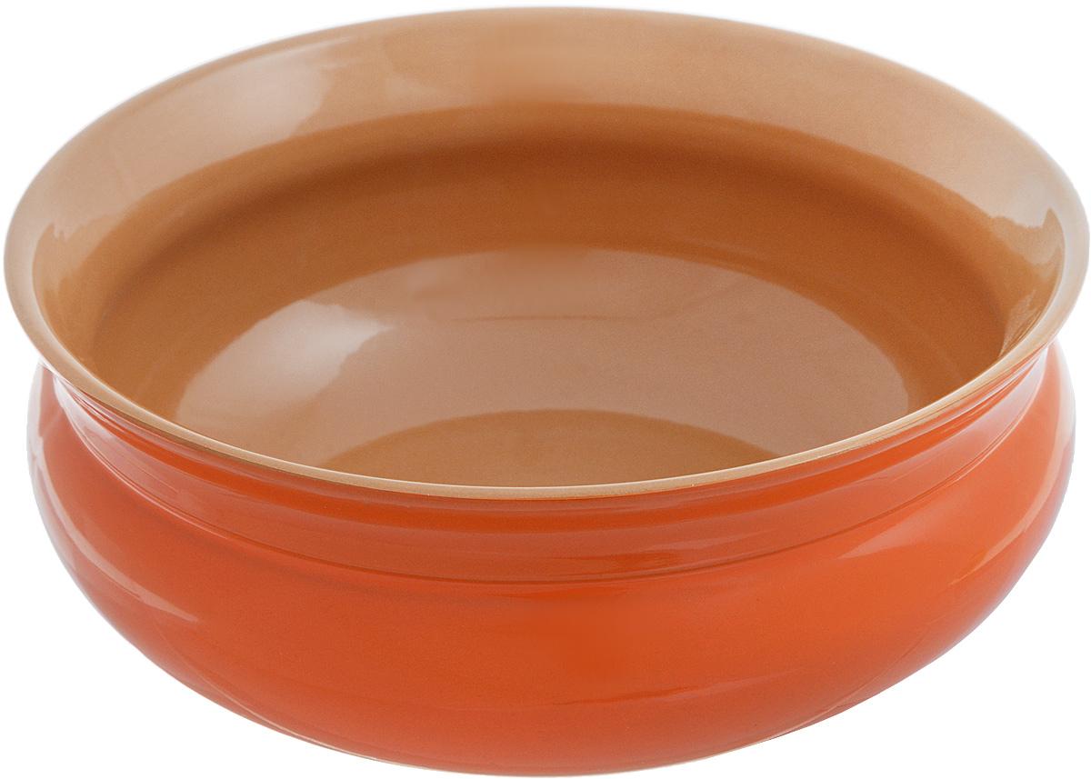 Тарелка глубокая Борисовская керамика Скифская, цвет: оранжевый, коричневый, 800 млРАД14457937_оранжевый, коричневыйГлубокая тарелка Борисовская керамика Скифская выполнена из высококачественной керамики. Изделие сочетает в себе изысканный дизайн с максимальной функциональностью. Она прекрасно впишется в интерьер вашей кухни и станет достойным дополнением к кухонному инвентарю. Тарелка Борисовская керамика Скифская подчеркнет прекрасный вкус хозяйки и станет отличным подарком. Можно использовать в духовке и микроволновой печи.Диаметр тарелки (по верхнему краю): 16 см.Объем: 800 мл.