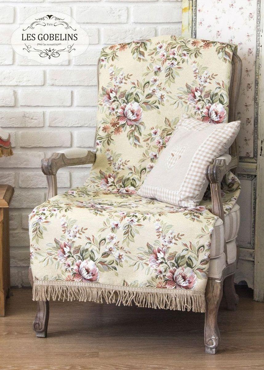 Покрывало на кресло Les Gobelins Pivoines Aquarelles, 50 х 120 смlns184839Покрывало на кресло Les Gobelins Pivoines Aquarelles с ярким цветочным рисунком привлечет к себе внимание и органично впишется в интерьер комнаты. Изделие изготовлено из высококачественной ткани гобелен и оформлено бахромой и кисточками. Необычайная красота сочетается в этом покрывале с высокой прочностью и долговечностью, а свойство гобелена по-разному проявлять себя в зависимости от освещения помещения позволяет открывать все новые и новые детали, которые, как казалось, раньше скрывал гобелен.Красочное и приятное на ощупь покрывало сделает интерьер спальни, детской или гостиной уютнее и своеобразнее. Состав материала: 50% хлопок, 50% полиэстер.