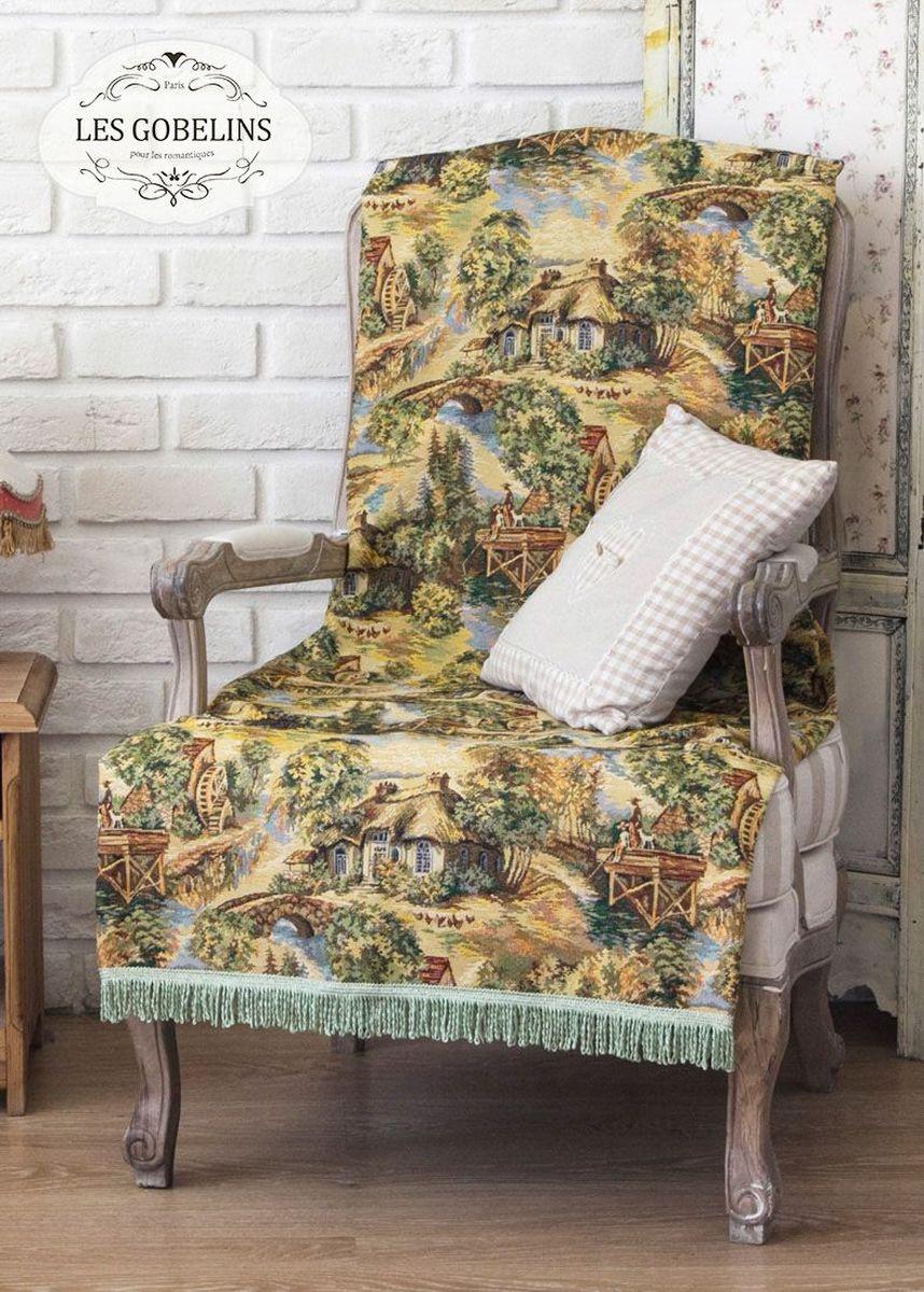 """Покрывало на кресло Les Gobelins """"Provence"""" с ярким рисунком привлечет к себе внимание и органично впишется в интерьер комнаты. Изделие изготовлено из высококачественной ткани гобелен и оформлено бахромой и кисточками. Необычайная красота сочетается в этом покрывале с высокой прочностью и долговечностью, а свойство гобелена по-разному проявлять себя в зависимости от освещения помещения позволяет открывать все новые и новые детали, которые, как казалось, раньше скрывал гобелен. Красочное и приятное на ощупь покрывало сделает интерьер спальни, детской или гостиной уютнее и своеобразнее.  Состав материала:  45% хлопок, 55% полиэстер."""