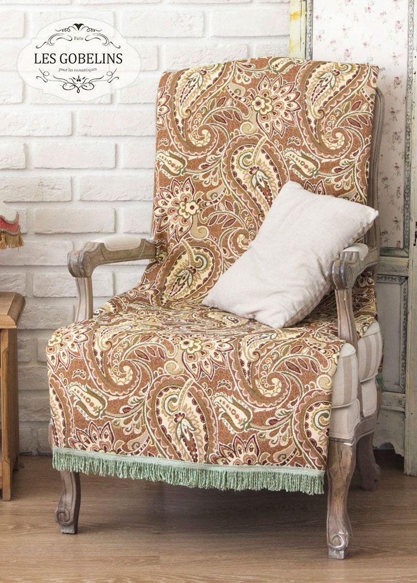 Покрывало на кресло Les Gobelins Vostochnaya Skazka, 50 х 120 смlns185197Покрывало на кресло Les Gobelins Vostochnaya Skazka с ярким орнаментом привлечет к себе внимание и органично впишется в интерьер комнаты. Изделие изготовлено из высококачественной ткани гобелен и оформлено бахромой и кисточками. Необычайная красота сочетается в этом покрывале с высокой прочностью и долговечностью, а свойство гобелена по-разному проявлять себя в зависимости от освещения помещения позволяет открывать все новые и новые детали, которые, как казалось, раньше скрывал гобелен.Красочное и приятное на ощупь покрывало сделает интерьер спальни, детской или гостиной уютнее и своеобразнее. Состав материала: 52% хлопок, 48% полиэстер.