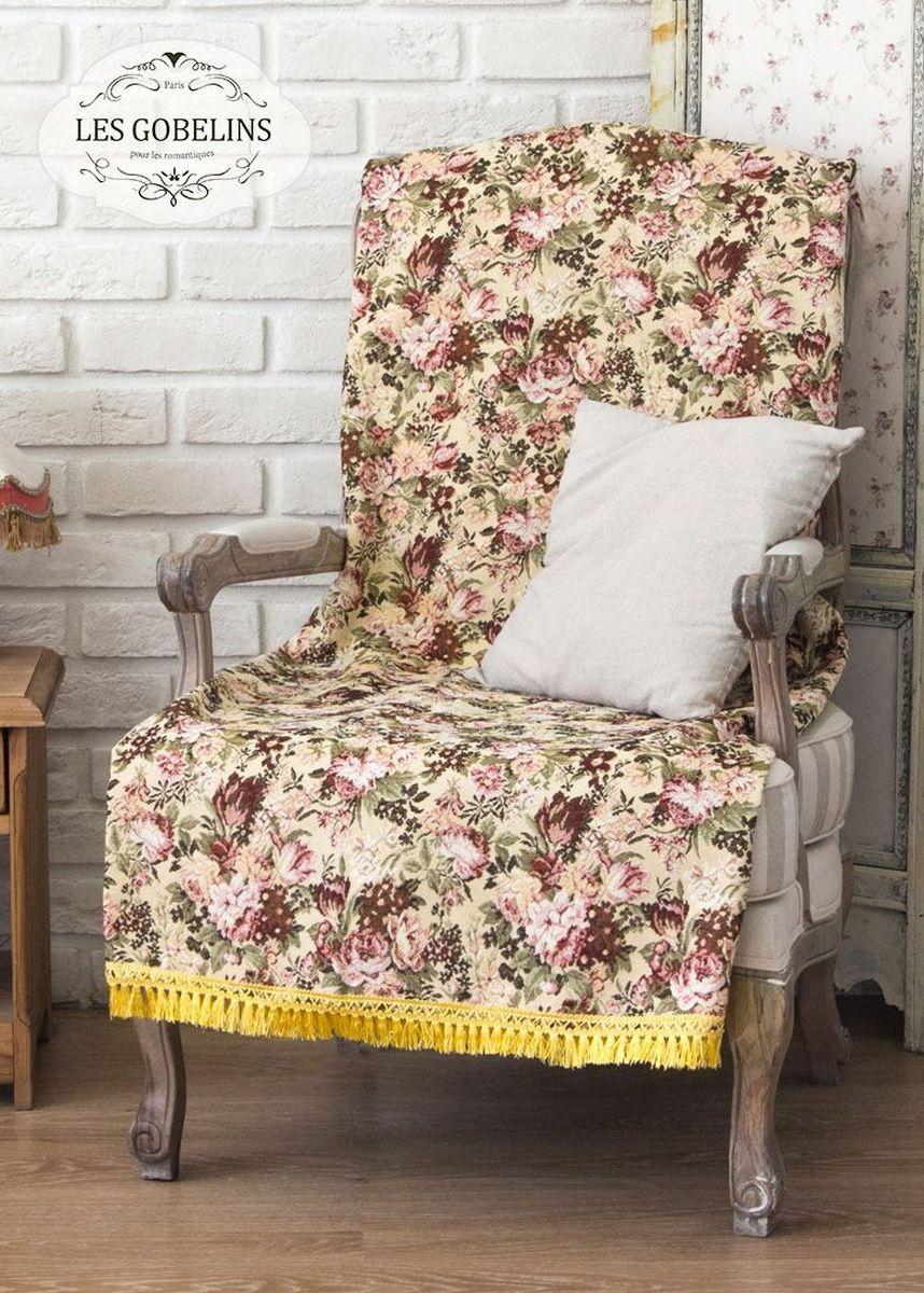 Покрывало на кресло Les Gobelins Bouquet Francais, 50 х 120 смlns185249Покрывало на кресло Les Gobelins Bouquet Francais с ярким цветочным рисунком привлечет к себе внимание и органично впишется в интерьер комнаты. Изделие изготовлено из высококачественной ткани гобелен и оформлено бахромой и кисточками. Необычайная красота сочетается в этом покрывале с высокой прочностью и долговечностью, а свойство гобелена по-разному проявлять себя в зависимости от освещения помещения позволяет открывать все новые и новые детали, которые, как казалось, раньше скрывал гобелен.Красочное и приятное на ощупь покрывало сделает интерьер спальни, детской или гостиной уютнее и своеобразнее. Состав материала: 50% хлопок, 50% полиэстер.